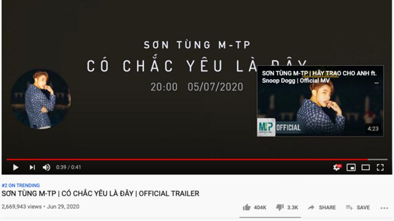 vua-ra-mat-trailer-suong-suong-40-giay-son-tung-m-tp-da-lap-ki-luc-moi